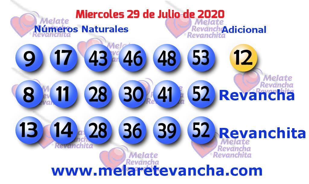 Melate du 2020-07-29